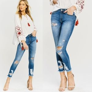 FAITH Distressed Skinnies